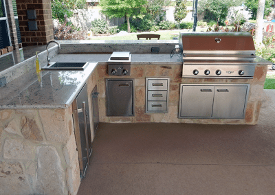 RICHMOND TEXAS LONG MEADOW FARM OUTDOOR KITCHEN 1