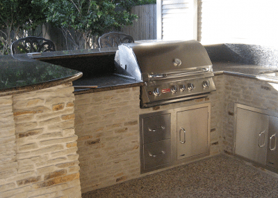 20-Foot-Outdoor-Kitchen-With-Island-Bar-Stacked-Stone-2