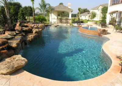 Pool landscaping with pergola houston and dfw