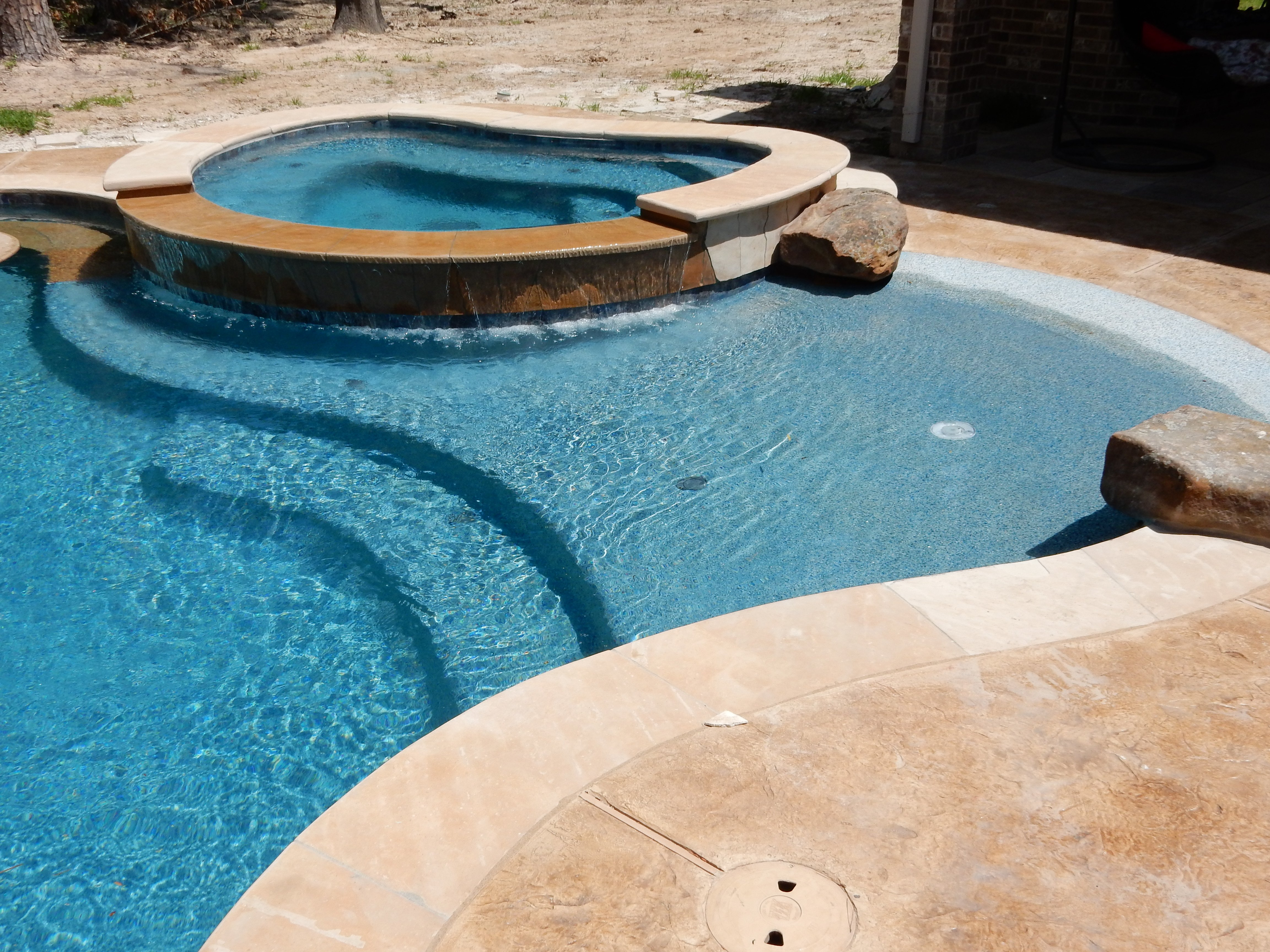 Beach Entries for Pools Design Photo Gallery